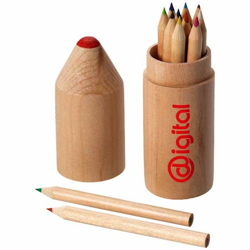 12 piece pencil set. regalos promocionales