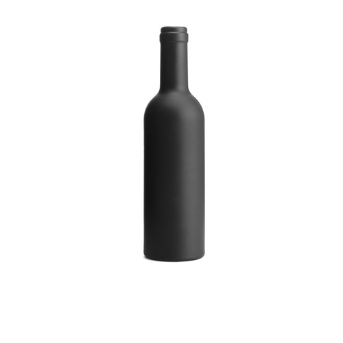 Black rubberized bottle. regalos promocionales