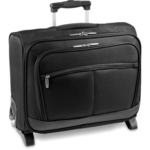 1680D and imitation leather softside trolley with laptop compartment. Promotional Products