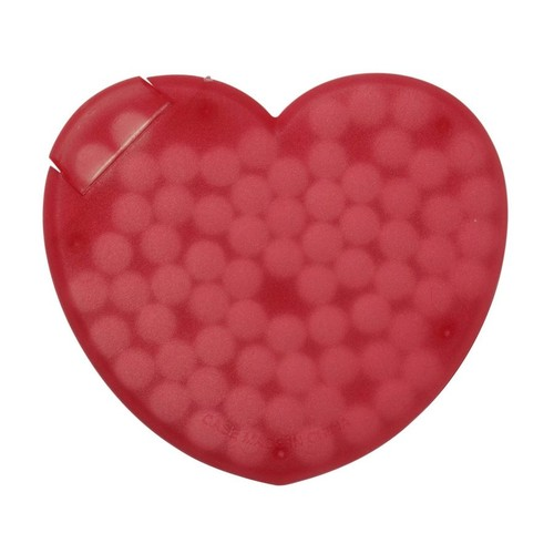 Heart shaped plastic mint card. regalos promocionales