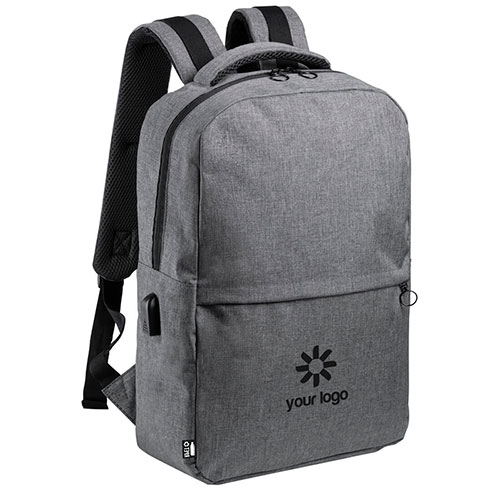 Laptop backpack in recycled plastic Polin. regalos promocionales