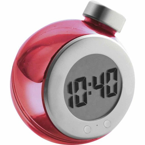 LCD water powered desk clock. regalos promocionales