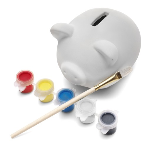 Piggy bank made of plaster. regalos promocionales
