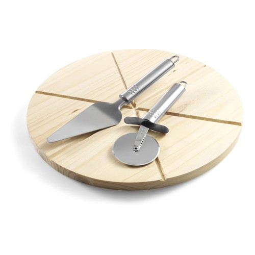 Pizza set with a chopping board. regalos promocionales