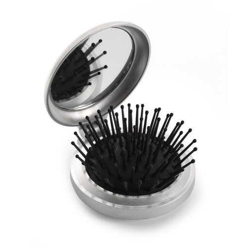 Plastic pocket mirror and brush. regalos promocionales