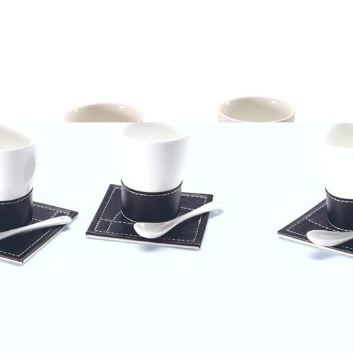 Juego de dos de tazas de caf ellada for Juego tazas cafe