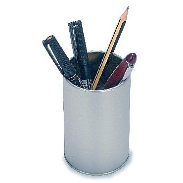 Metallic Pencil Bucket