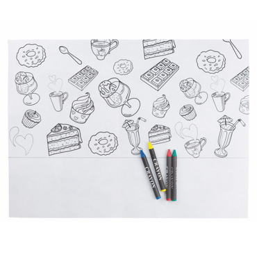 Nappe avec Crayons Candy