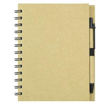 Board Kraft Notebook With Pen
