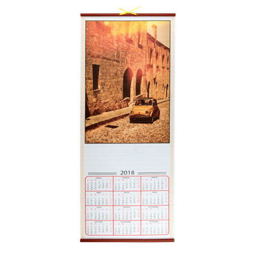 Calendario Pergamino Coche
