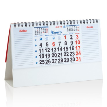 Calendario Sobremesa  2012 Feber