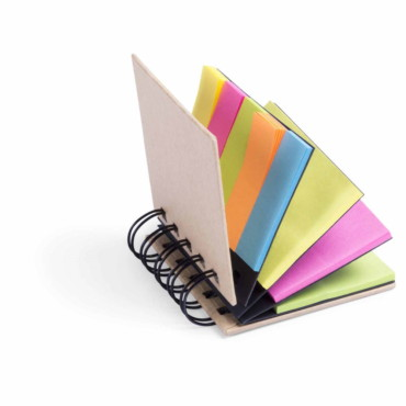 Laska Sticky Notepad. Cardboard. 75 Sticky Notes 7,5 x 5 cm. 125 Mini Sticky Notes 5 x 1,5 cm