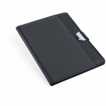 Bretux Folder. PU/ Polyester. 20 Sheets Notepad