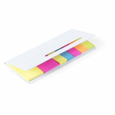 Karlen Sticky Notepad. Cardboard. 20 Sticky Notes 4,5 x 2,5 cm. 100 Mini Sticky Notes 4,5 x 1,2 cm