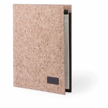 Hoyeb Folder. Natural Cork. 20 Sheets Notepad