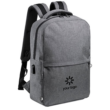 Laptop backpack in recycled plastic Polin