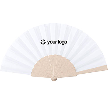 Bamboo and recycled plastic hand fan