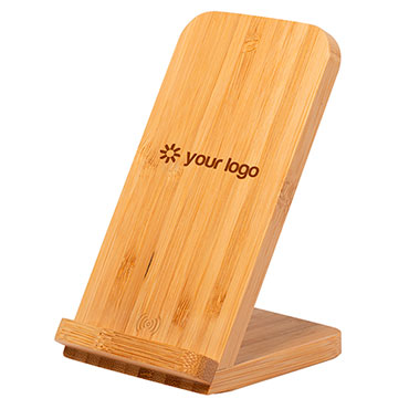 Soporte para móvil y cargador Bambú
