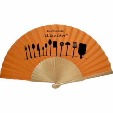 Lacared wooden hand fan