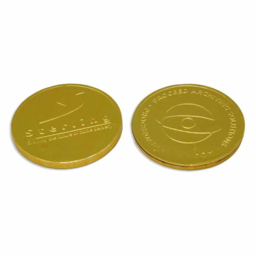 Monedas de chocolate 68mm