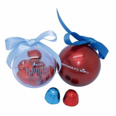 Bolas de navidad de chocolate 60mm