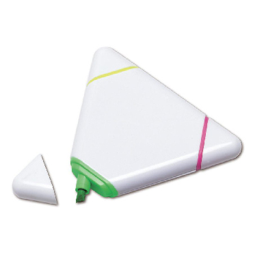 Marcador triangular con 3 colores