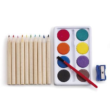 Set de pintura con 10 lápices de colo...