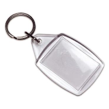 Translucent plastic keyring
