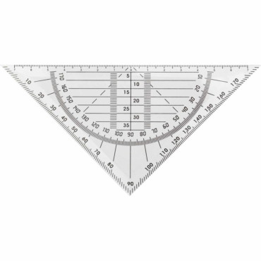 Triángulo de plástico para medición