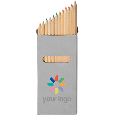 12 lápices largos de color en caja de...