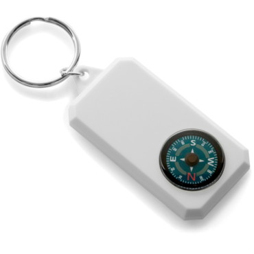 Plastic key holder with compass