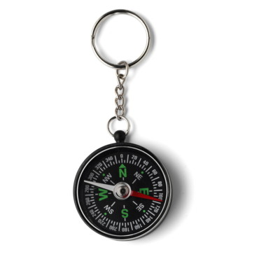 Key holder with a plastic compass