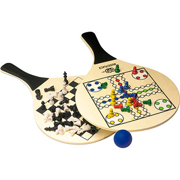 Bat and ball set with chess