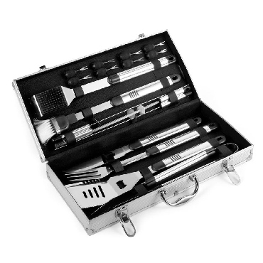 Barbecue set in aluminium case