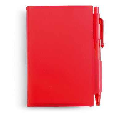 Notebook in a hard plastic case