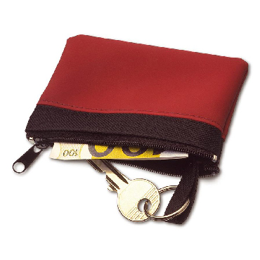 Nylon 600d zipped key wallet
