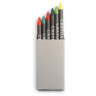 Six small crayons