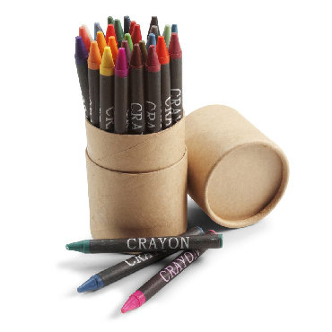 Conjunto de 30 lápis de cera em tubo ...