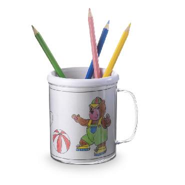 Plastic drawing mug