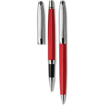 Twist action metal ballpen with black...