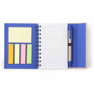 Wire bound note book with a magnetic closure
