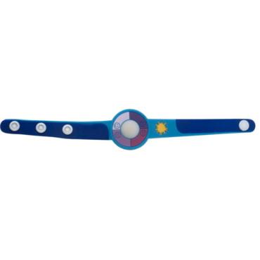 Armband-Uhr Happy face aus Kunststoff
