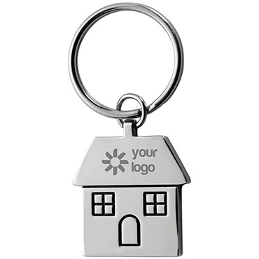 House shaped metal key holder