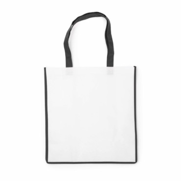 Non-woven bag with coloured trim