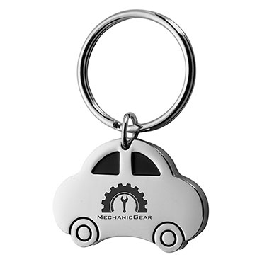 Porta-chaves de metal com forma de ca...