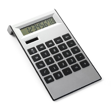 Stylish desk calculator