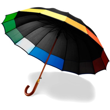 Paraguas automático con 16 paneles de...