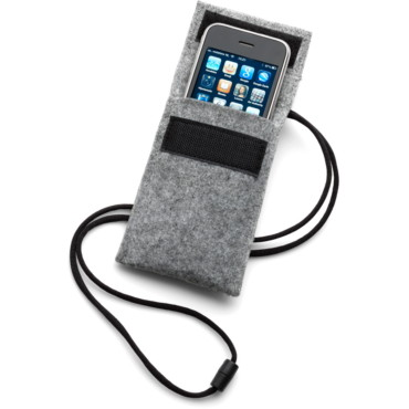 Mobile phone holder with a neck cord...