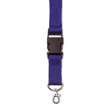 Polyester lanyard with safety release