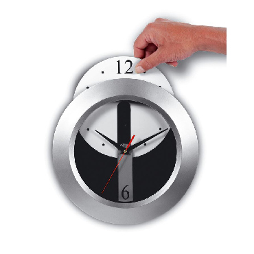 Wall clock with a detachable dial